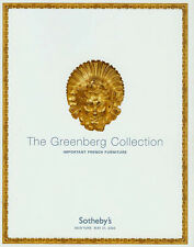 Sotheby's Imp. French Furniture Greenberg Collection Auction Catalog 2004