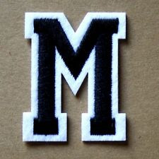 Letter M Patch Alphabet  Iron Sew On Applique Badge Motif