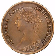 1865 Great Britain Farthing 1/4d Queen Victoria KM#747.2 British Coin