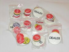 10x (10) Dealer Button Sets - Texas Holdem Poker little big kill reserved blind