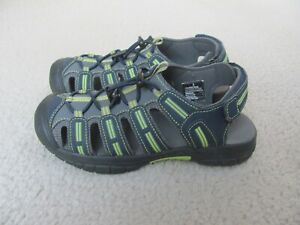 Khombu Boy's Gray and Yellow/Green Colored Closed Toe Sandals Youth Size 3