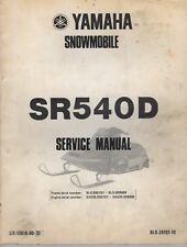 1980 YAMAHA SNOWMOBILE SR540D  SERVICE MANUAL LIT-12618-00-31 (649)