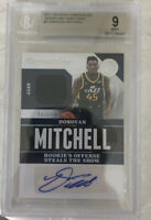 🔥2017-18 Chronicles Donovan Mitchell RC Patch Rookie AUTO /199 BGS 9 Auto 10