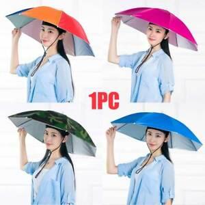 Party Folding Headwear Outdoor Fishing Umbrella Hat Hands Free Sunshade Camping