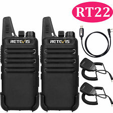 8pcs Retevis RT22 2W UHF400-480MHz 16CH VOX Scan 2WayWalkie Talkie+8*Speaker MIC