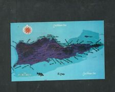 Y128 Chrome Postcard 3x5 Map of St Croix Virgin Islands Caribbean Sea