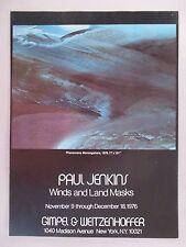 Paul Jenkins Art Gallery Exhibit PRINT AD - 1976