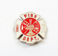 Vintage Enamel Fire Dept Medallion - Maltese Cross | 1""
