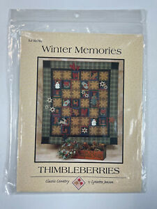 "Thimbleberries Quilt Pattern Winter Memories 64"" x 72"" Lynette Jensen"