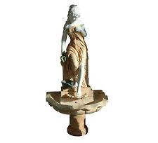 Fontana con scultura in Marmo Bianco e Rosa Marble Fountain H.190cm  XXI sec