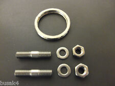 KEEWAY SUPERLIGHT 125 STAINLESS EXHAUST STUDS + NUTS + WASHERS + GASKET PAIR