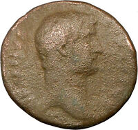 Hadrian Bisexual Emperor 119AD Large Ancient  Roman Coin GENIUS Cult RARE i18239