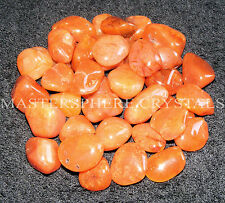 10 x Carnelian Tumblestones A Grade Crystal 18mm to 22mm Wholesale Bulk