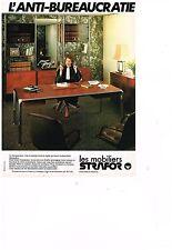 PUBLICITE ADVERTISING  054  1978  STRAFOR  mobilier bureau 2