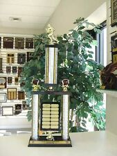 Fantasy Football Awesome New Large Two Post Trophy 14 Year Perpetual Award *