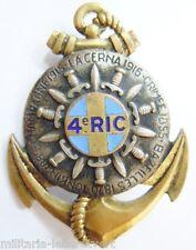 Insigne 4° RIC (Toulon) REGIMENT INFANTERIE COLONIALE  Drago Paris H763 ORIGINAL