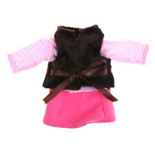 3pc/set Vest Long Sleeve Mini Skirt Sweet 18 Inch American Girl Doll Clothes F&F