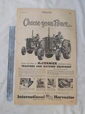 McCormack International Tractor Full Page Advertisement removed from a Newspaper