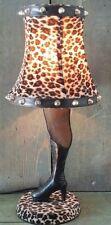 Studded Shade Animal Print Leg Lamp Fishnet Stockings Stiletto Boot Steampunk