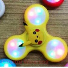 LED Flash Gyro light Fidget Hand Tri Spinner Finger Toy EDC multi color switch