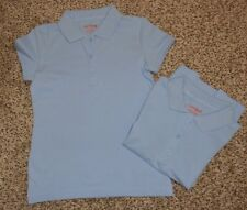Set of 2 Cat & Jack Girls School Uniform Blue Pullover Shirt Size 6-6X New