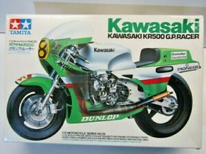Tamiya 1:12 Scale Kawasaki KR500 GP Racer Model Kit New - # 1428*800 Ballington