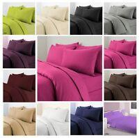 Duvet Cover Set Pillow Case Plain Dyed Quilt Cover Set Single Double Super King