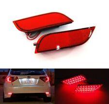 2x Red Rear Bumper Reflector LED Tail Brake Light 08+ Subaru Impreza WRX STI XV