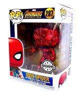 Funko Pop! Vinyl-Chrome Iron Spider-Avengers Infinity War-Supanova Exclusive NEW