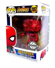 Funko Pop! Vinyl-Chrome Iron Spider-Avengers Infinity War-Supanova Exclusive NEW
