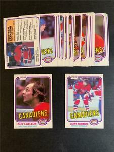 1981/82 OPC O-Pee-Chee Montreal Canadiens Team Set 23 Cards