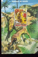 Dinosaurs Godzilla Velociraptor Tarbosaurus Souvenir Sheet Mnh - Guinea E82