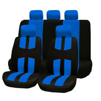 9PCS Full Set Universal Car Front Rear Seat Headrest Covers Protector For SUV