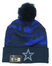 NFL Wollmütze/Wintermütze DALLAS COWBOYS Blue Camoflage cuffed Knit hat Pommel