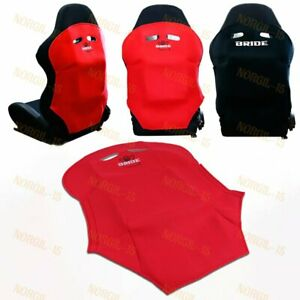 X1 Red Racing Seat Protector Cover Pure Cotton Seat Dust Boot JDM BRIDE RACING