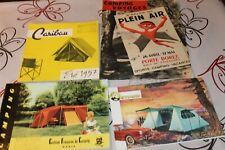 4 Anciens catalogues de  CAMPING PLEIN-AIR 1957 tente