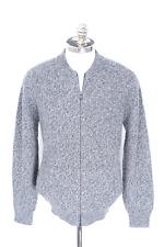 $2600 NWT BRUNELLO CUCINELLI Gray 100% Cashmere Full Zip Sweater Jacket 54 XL