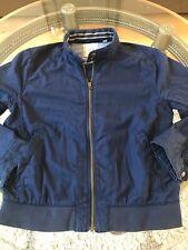 GAP Men's Blue Bomber Jacket M zipper front 100% cotton fall fashion