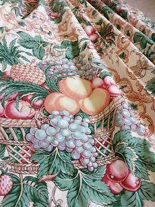 Pair Of Vintage G P &J BAKER 1981 Covent Garden curtains 121cm drop x 124cm wide