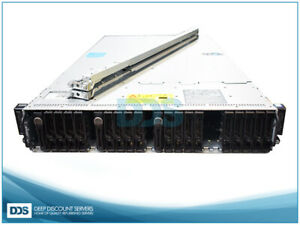 Dell PowerEdge C6320 4-Node 24 SFF (8)Heat Sinks 0GB Mem (2)1400W PSU Rails