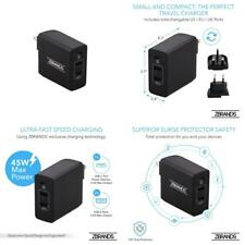 45W 3-Port USB-C Travel Adapter Charger | Multiple Plug Support...