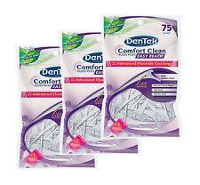 Dentek Comfort Clean Floss Plettri-RETRO DENTI-Menta Fresca-Set di 3 confezioni