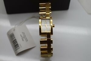 Pulsar Womens Design Watch Stainless Steel Gold Plated Square Case Link Bracelet