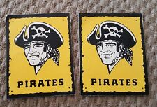 2 VINTAGE 1970S PITTSBURGH PIRATES  3 INCH STICKERS,GREAT CONDITION