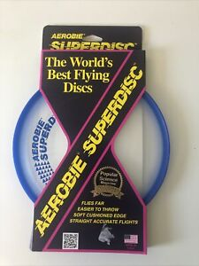 """Aerobie Superdisc Frisbee Disc 10"""" Frisbee Dogs Golf Soft Flying Toy Disc Game"""