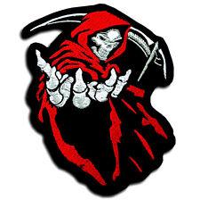 M Size Grim Reaper Devil Patch Iron on Chopper Biker Motorcycle Death Skull Vest