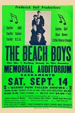 The Beach Boys at Memorial Theatre in Sacremento Concert Poster 1963 12x18