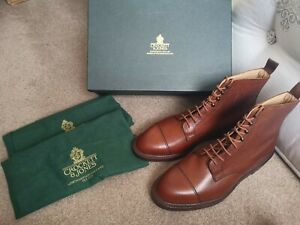 Crockett Jones Coniston Scotch Grain Tan Dainite UK 10 & Cedar Wood Shoe Trees