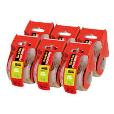 """Packing Tape w/Refillable Dispensers, 2""""x22.2 Yds.,6/Pk,Cl"""