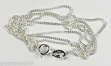 18 inch sterling silver fine link curb chain with bolt ring clasp